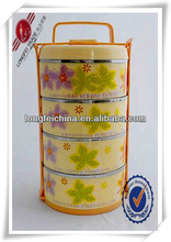 4-Section Plastic Metal Insulated Food Storage Container With Divider