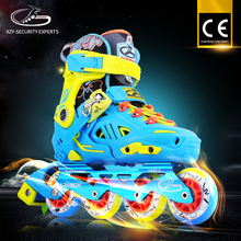 PU wheels Flashing Led Removable Inner Breathable Inline Skate for kids and adults