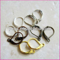 JF0930 Silver/gold/bronze/copper plated lever back earring hooks,leverback earwires,earring findings