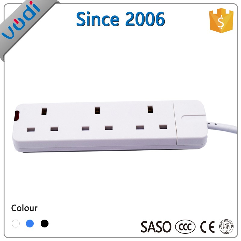 4 gang 2meters single switch UK extension lead 13A socket