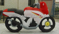Custom inflatable motorcycle model, good quality inflalable cartoon character, inflatable advertising figure for rental