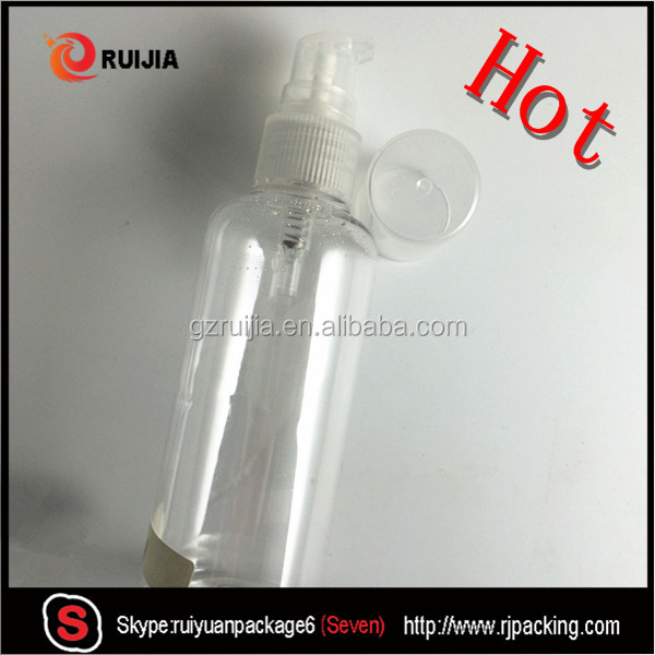 Hot 10ml 30ml 50ml 60ml 80ml 100ml 120ml 150ml transparent plastic empty lotion pump bottles wholesales