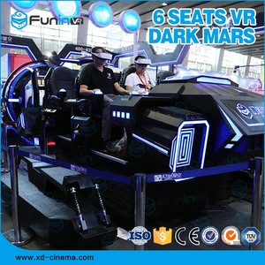 Good profit for Roller coaster 9 D game Virtual Reality 6 seats Dark Mars accrade simulator