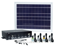 mini solar panel home lighting system with 4pcs led lights and mobile phone charger 8W solar panel 4400mAh battery