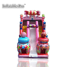 Candy theme cheap children inflatable water slide