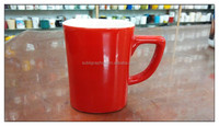 cheap ceramic red nescafe stoneware coffee mugs for stock