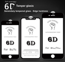 H9 screen protector phone 5D 6D termper glass Anti Fingerprint cellphone screen protector for iphone 7/8/X