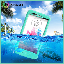 Custom Slim Thin Kickstand Snowproof Shockproof Waterproof Cell Phone Case Full Body Protective Cover For LG K10 G3