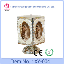 Hand cranked beautiful music box pictrure frame, rotating funia photo frame