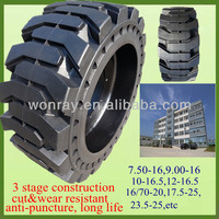 Best Price Soft Ride 12-16.5 Solid Skid Steer Loader Tires With Wheels