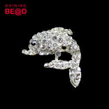 Elegant Animal Rhinestone Brooch Silver Plating for Women Metal Dress Accessory Brooches with Pin