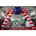 Newly Christmas Festival Event Entrance Decoration Inflatable Cartoon Candy stick Arch With Gift Box