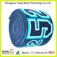 manufacturer wholesale high quality jacquard elastic with custom logo