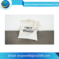 Cheap and high quality folding reusable cotton shopping bag