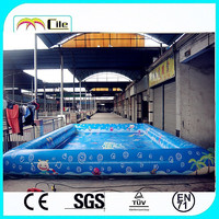 CILE Cute Cartoon Painted Underwater World Kids Swimming Pool Inflatable