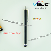 Buy 8mm aluminium stylus roller ball pen with CMYK logo in China ...