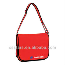 Red Eco-Friendly Non Woven Messenger Bag