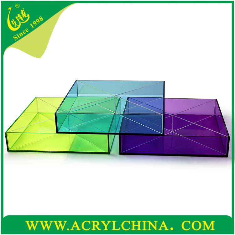 High quality wholesale lucite tray, clear cheap wholesale lucite tray