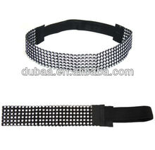 China Supply Fashion Hair Accessory Hairbands Party Costume Crystal Jeweled Stretch Headbands Wholesale