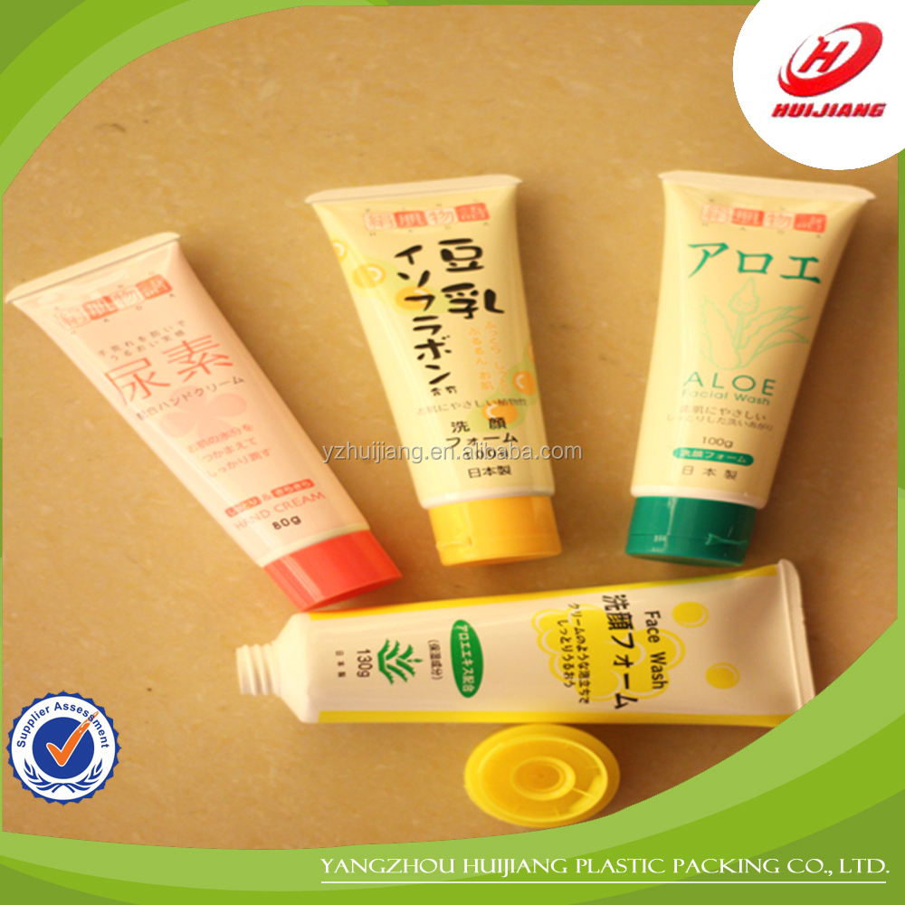 small hand cream plastic squeeze tubes for cosmetics packaging