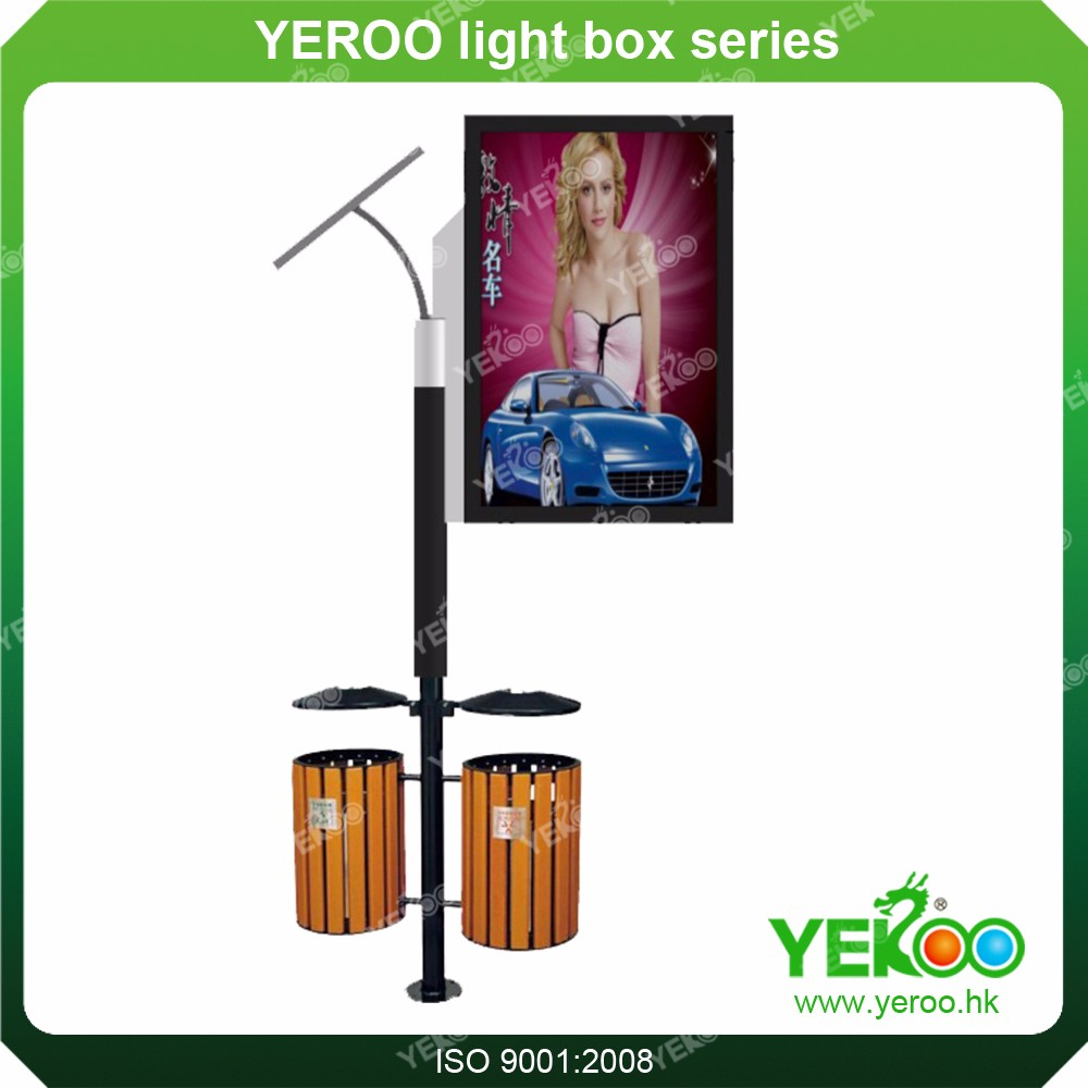 solar power energy street light pole advertising led display double sided street light pole