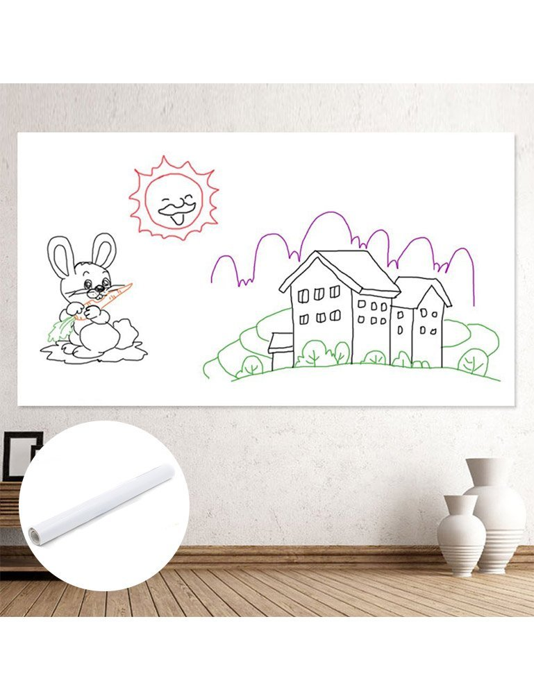 Custom size leather adhesive white chalkboard plastic polypropylene PP sticker