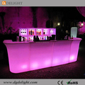 CE RoHS Approval Rechargeable Illuminated Color Changing LED Straight Bar Counter