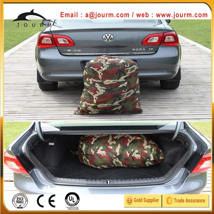 Padded aluminum foil car cover with hail protection function