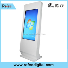 LCD advertising player, computer all in one monitors, indoor HD digital ad display with touch screen