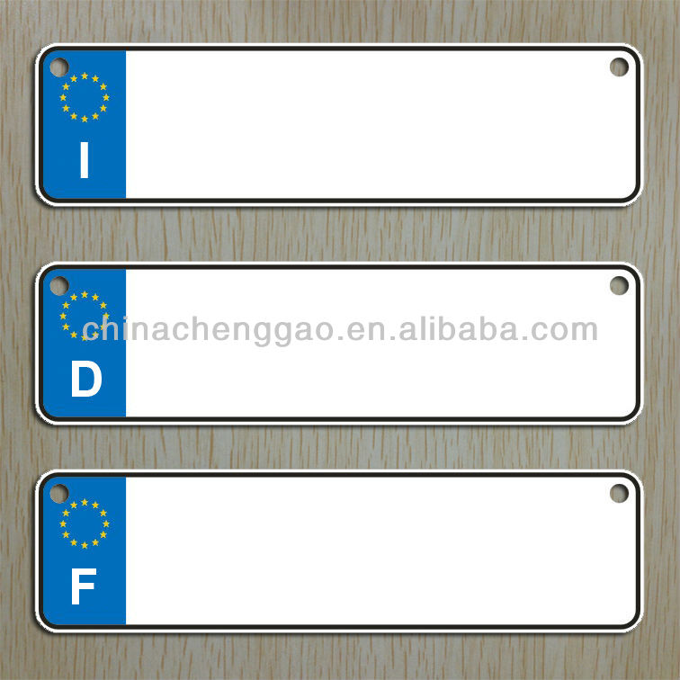 wholesale blank reflective license plates/blank number plate