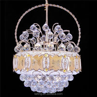 Ball Round Crystal Pendant Lights with Glass