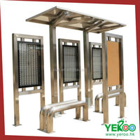 outdoor advertising display stand solar bus shelter