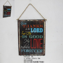 Wholesale cheap vintage custom printing metal wave tin sign, metal wave tin plaque, factory advising plaque