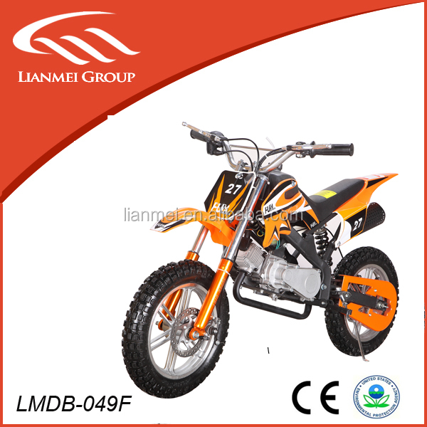 2016 cheap sales 49cc mini dirt bike 2stroke motorcycle with CE EPA