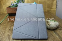 Alibaba Wholesale Oracle Bone Grain Leather Stand Cover Case with Back Hard Plastic Case for iPad Mini 2/iPad air