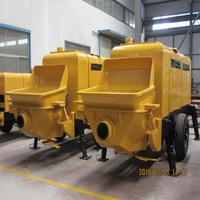 used trailer beton pump with reasonable price with PLC Controler advanced configuration