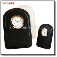 Vintage Fashion Travel Leather Clock with Colorful
