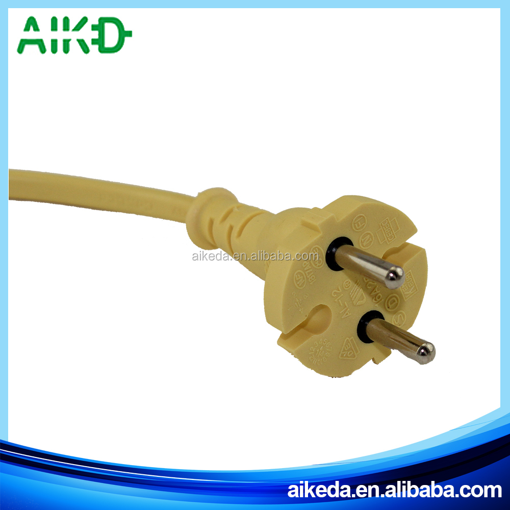 Super quality great material professional supplier Brazil 2 Pin Plug Wire Ac Power Cord For Tv