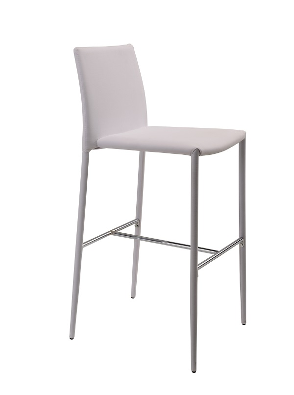 High Quality Tall Metal louis PVC cover bar stool with footrest