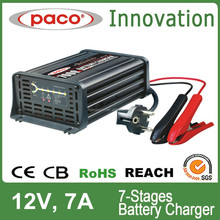Battery Trickle Charger PACO Car Battery Automatic Lead-acid Battery Charger 12V 7Amp