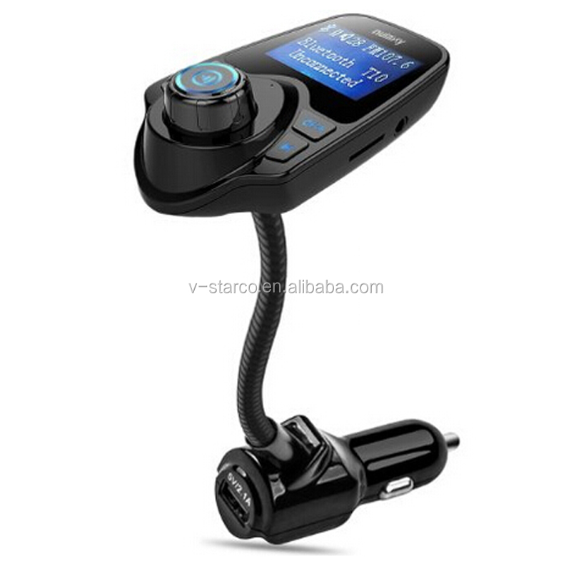 2017 Product Multi-Function Bluetooth Enabled Car Kit Fm Transmitter with LED Display Line-in and Dual USB Port FM transmitter