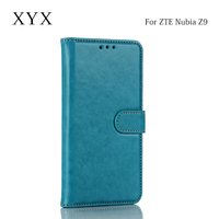 china supplier genuine pu leather flip wallet for zte nubia z9 case cover