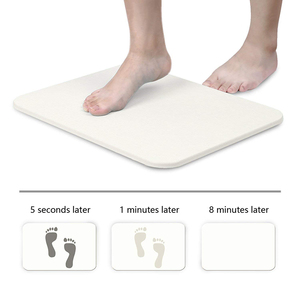 Environmental Protection Waterproof Raw Diatomite Bath Mat For Bathroom Floor Mat