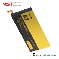China shenzhen wholesale lipo battery For Samsung Galaxy A7 li-ion batteries 3.7v 4.2v 2600mAh lithium battery