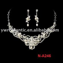 hot sale wedding bridal crystal pearl rhinestone jewelry set