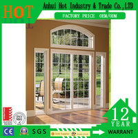 China Wholesale Cheap PVC Windows Grill Design Window Wrought Iron Glass Window and Door