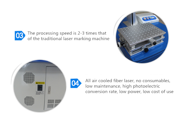 logo printing metal engraving making machine fiber laser 20w