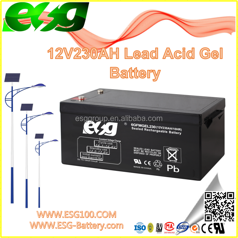 12V230AH Deep cycle Manufacture high rate AGM SLA MF Solar Lead Acid UPS VRLA GEL new energy battery