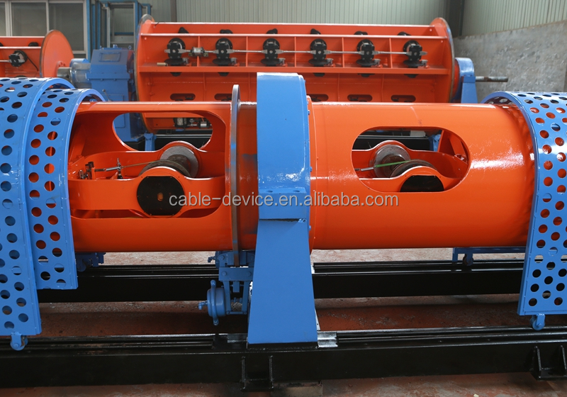 Tubular type electric wire cable making machine for stranding