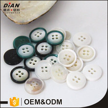 DIAN Natural 4 holes Fashion Shell Shirts Button with resin combination pantone color